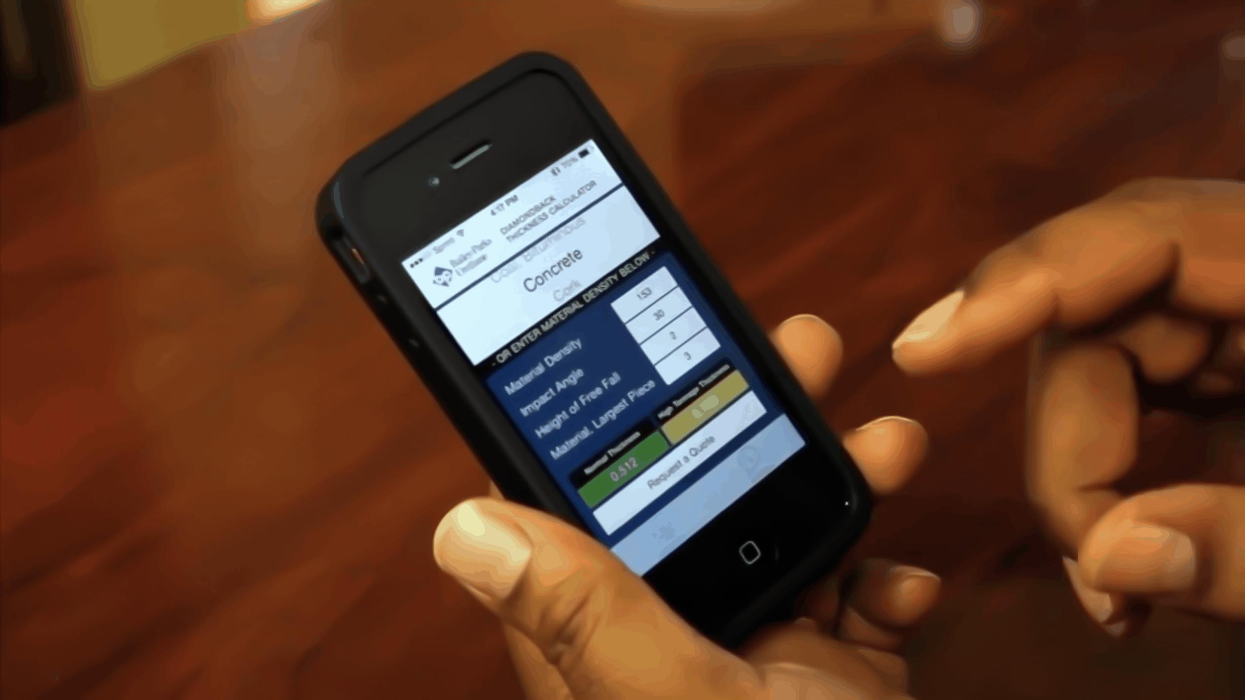 Diamondback® Thickness Calculator App
